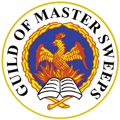 Guild of Master Sweeps Logo for the Burton on Trent Chimney Sweep and log burner stove installer