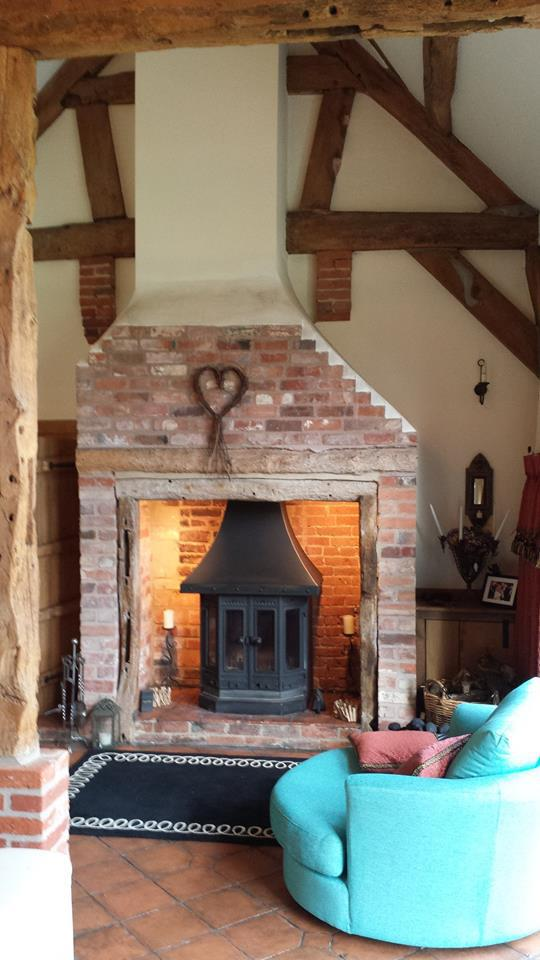 An example of one of our stove installations in Lichfield. A beautiful log burner by the professional installer!